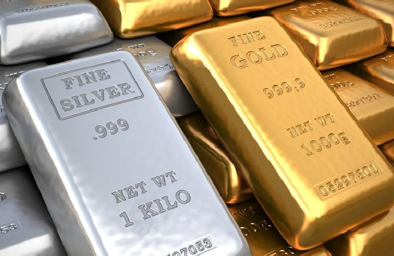 999er-goldbarren-und-silberbarren